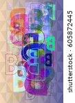 b alphabet template design | Shutterstock .eps vector #605872445