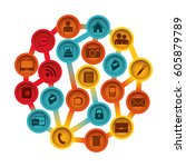 buttons apps connections... | Shutterstock .eps vector #605879789