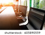 conference table and chairs in...   Shutterstock . vector #605890559