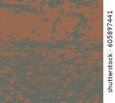 color vintage grunge futuristic ... | Shutterstock .eps vector #605897441