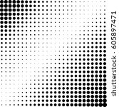 abstract halftone vector... | Shutterstock .eps vector #605897471