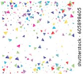 festive colorful triangle... | Shutterstock .eps vector #605898605