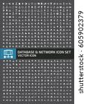 database and network icon set... | Shutterstock .eps vector #605902379