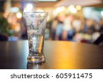 close up of empty beer mug for... | Shutterstock . vector #605911475