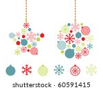 christmas greeting card with... | Shutterstock .eps vector #60591415