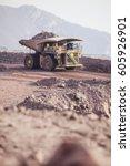 mining activity  mining dump... | Shutterstock . vector #605926901
