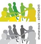 team work   Shutterstock .eps vector #605928245