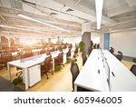 modern office interiors   Shutterstock . vector #605946005