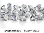 shiny white diamond... | Shutterstock . vector #605946011