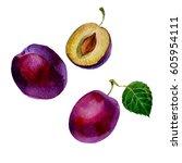 watercolor illustration  image... | Shutterstock . vector #605954111