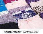 colorful panties closeup... | Shutterstock . vector #605963357