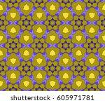 seamless patterns. vintage... | Shutterstock .eps vector #605971781