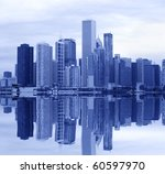 manhattan skyline | Shutterstock . vector #60597970