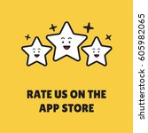 rate us on the app store... | Shutterstock .eps vector #605982065