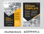 vector layout design template... | Shutterstock .eps vector #605994911