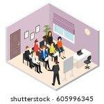 business training or coaching...   Shutterstock .eps vector #605996345
