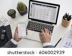 personal organizer management... | Shutterstock . vector #606002939