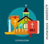 catholicism conceptual design | Shutterstock .eps vector #606005279