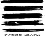 grunge paint stripe . vector... | Shutterstock .eps vector #606005429