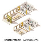 vector isometric low poly fast... | Shutterstock .eps vector #606008891