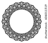 mandalas for coloring book.... | Shutterstock .eps vector #606011519