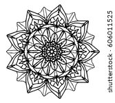 mandalas for coloring book.... | Shutterstock .eps vector #606011525