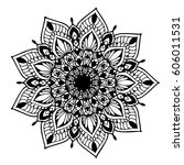 mandalas for coloring book.... | Shutterstock .eps vector #606011531