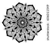 mandalas for coloring book.... | Shutterstock .eps vector #606011549