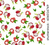 vector seamless pattern with... | Shutterstock .eps vector #606016769