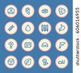 medicine web icons set | Shutterstock .eps vector #606016955