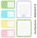set of different vector note... | Shutterstock .eps vector #606036515