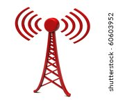 tower with radio waves | Shutterstock . vector #60603952