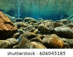 River Underwater Rocks On A...