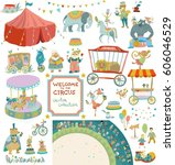 circus entertainment.... | Shutterstock .eps vector #606046529
