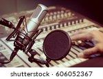 professional condenser studio...   Shutterstock . vector #606052367