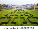 eduardo vii park in lisbon ... | Shutterstock . vector #606062051
