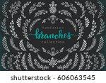 big set of hand drawn vector...   Shutterstock .eps vector #606063545