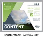 greenery brochure layout banner ... | Shutterstock .eps vector #606069689