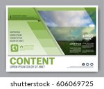 greenery brochure layout banner ... | Shutterstock .eps vector #606069725
