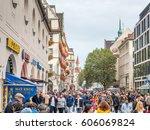 munich   october 14   kaufinger ... | Shutterstock . vector #606069824
