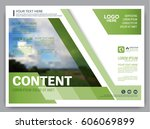 greenery brochure layout banner ... | Shutterstock .eps vector #606069899