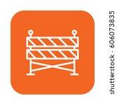construction barrier flat line... | Shutterstock .eps vector #606073835