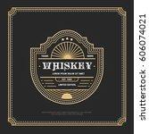 vintage frame design for labels ... | Shutterstock .eps vector #606074021