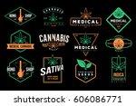 medical cannabis emblems  label ...