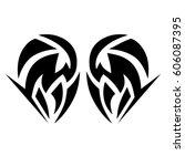 tattoo tribal vector designs.... | Shutterstock .eps vector #606087395