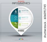 infographic business horizontal ... | Shutterstock .eps vector #606091745