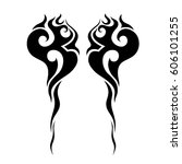 tattoo sketch tribal vector... | Shutterstock .eps vector #606101255