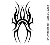 tattoo sketch tribal vector... | Shutterstock .eps vector #606101285