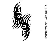 tattoo sketch tribal vector... | Shutterstock .eps vector #606101315