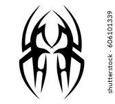tattoo tribal vector designs.... | Shutterstock .eps vector #606101339